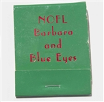 Fun Memento Owned by Frank Sinatra, His Personal Set of Matches for the Christmas Holidays -- Blue Eyes
