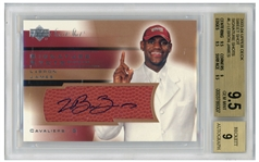 LeBron James Signed 2003-04 Upper Deck Sweet Shot, James Rookie Year -- Graded BGS Gem Mint 9.5 & 9 for Autograph