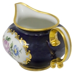 Margaret Thatcher Personally Owned China -- Creamer in a Navy Blue Floral Pattern