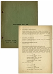 Moe Howards Script for The Three Stooges 1936 Film Half Shot Shooters