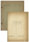 Moe Howards Personally Owned Script for The Three Stooges 1942 Film Matri-Phony