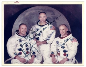 Apollo 11 Crew Signed 10'' x 8'' Photo -- With PSA/DNA COA neil armstrong autograph