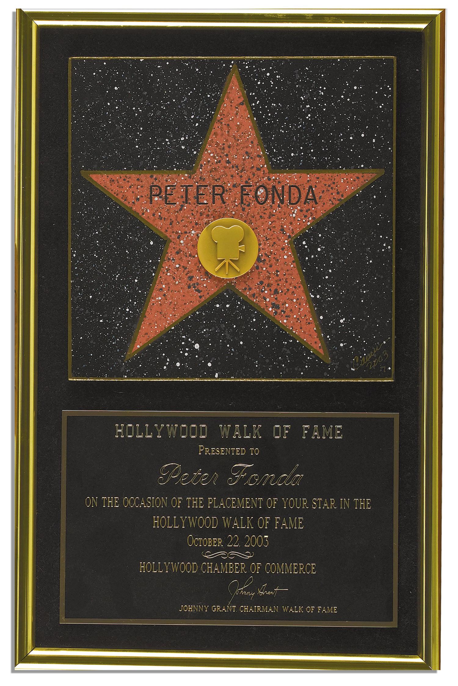 walk of fame awards walk of fame award movie memorabilia