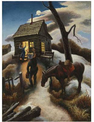 thomas hart benton art; thomas hart benton art work; oil painting
