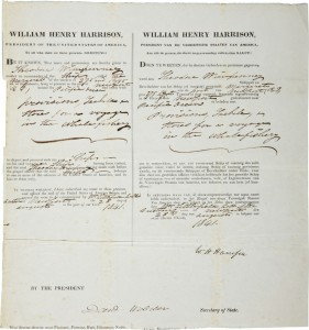 william henry harrison autograph