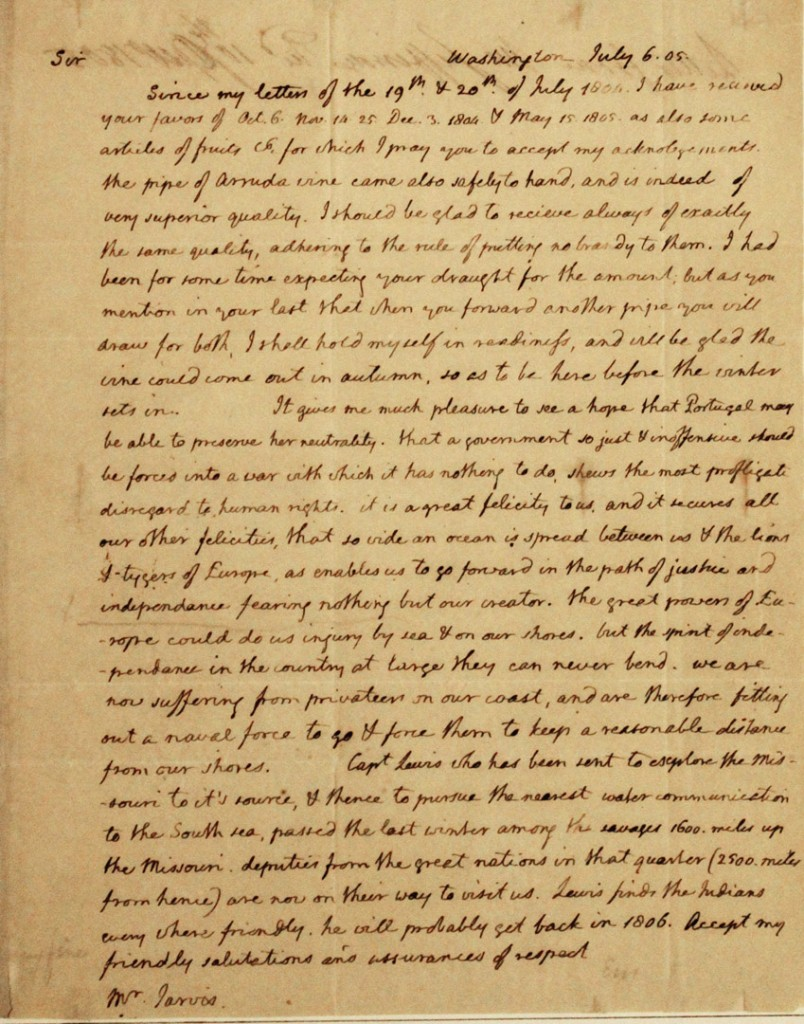 Thomas Jefferson Letter