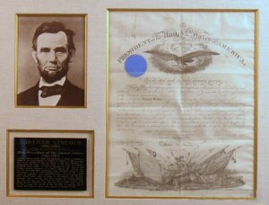 Abraham Lincoln Autograph. Click to enlarge.