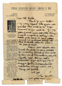 Beatles memorabilia John Lennon Autograph Letter Signed Advocating Meditation
