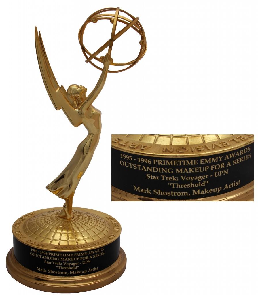 """Star Trek memorabilia auction 1995-96 Emmy Award for """"Star Trek: Voyager"""""""