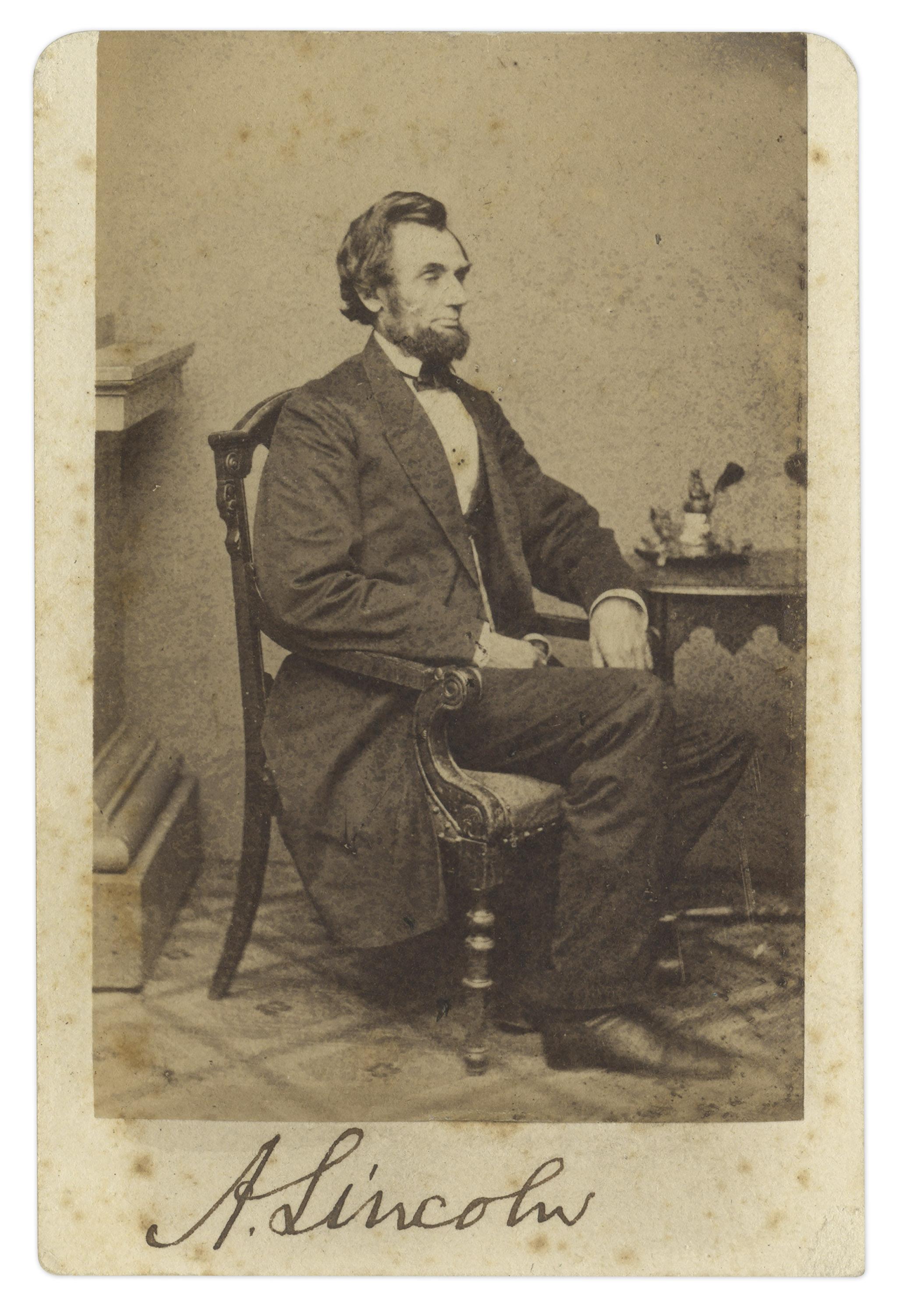 Abraham Lincoln Signed Cdv Abraham Lincoln Cdv Signed