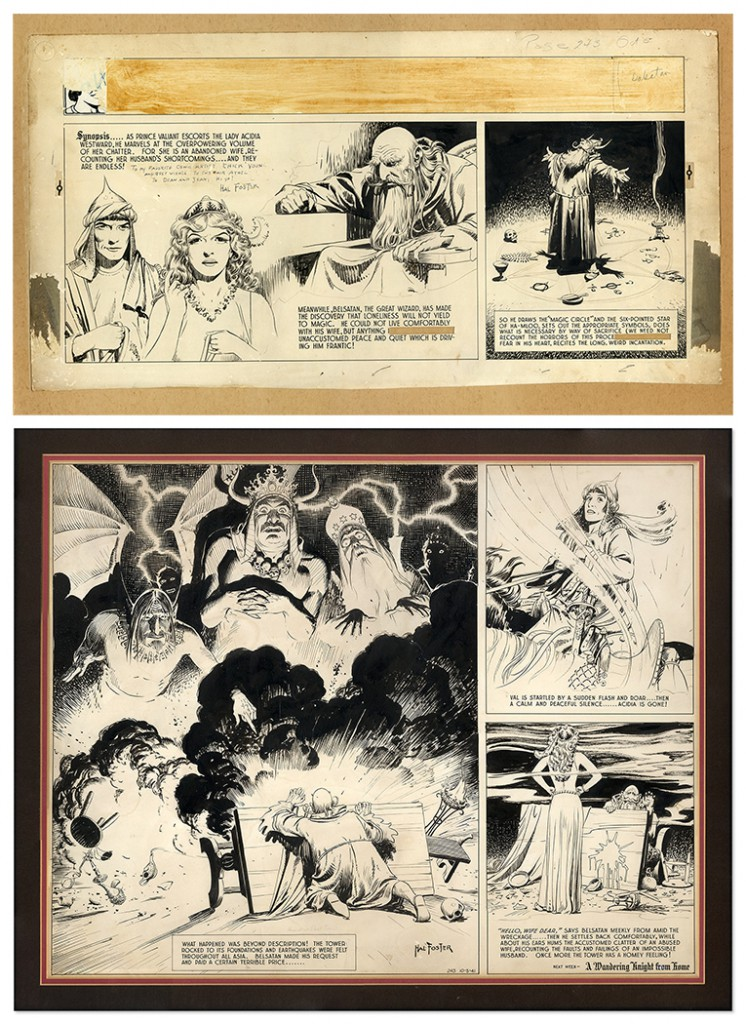 1. Hal Foster Dean Young Sunday Hal Foster Prince Valiant comic art