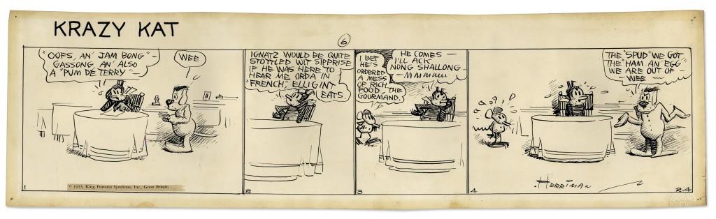 George Herriman Krazy Kat comic art