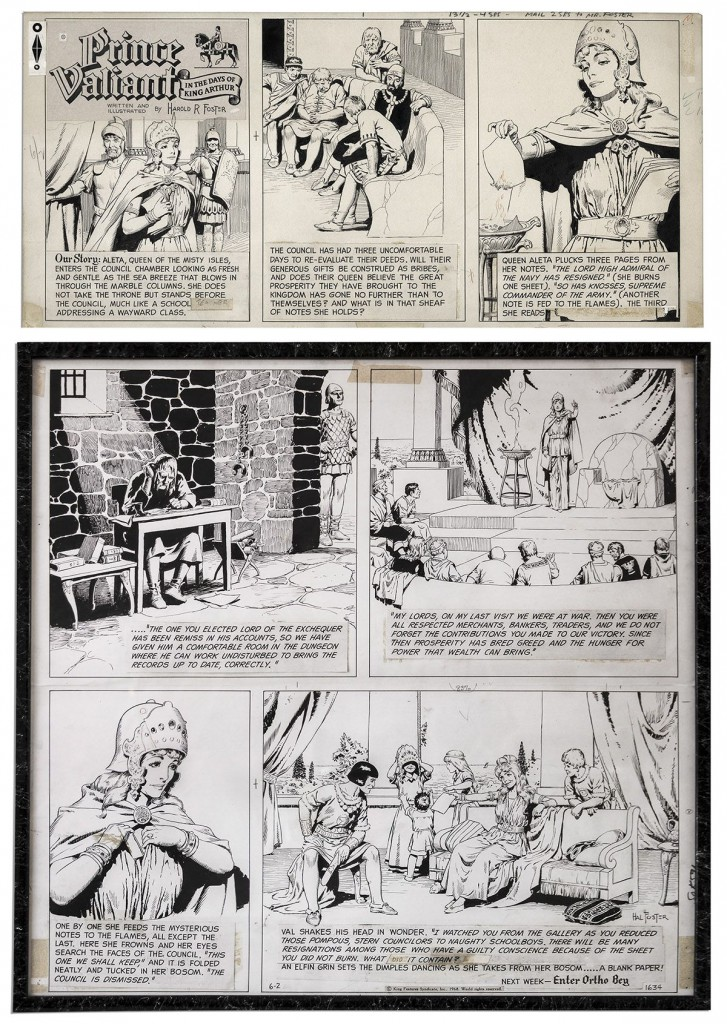 Hal Foster Prince Valiant comic art