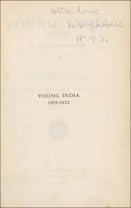 Mahatma Gandhi autograph Mohandas Mahatma Gandhi Signed Book
