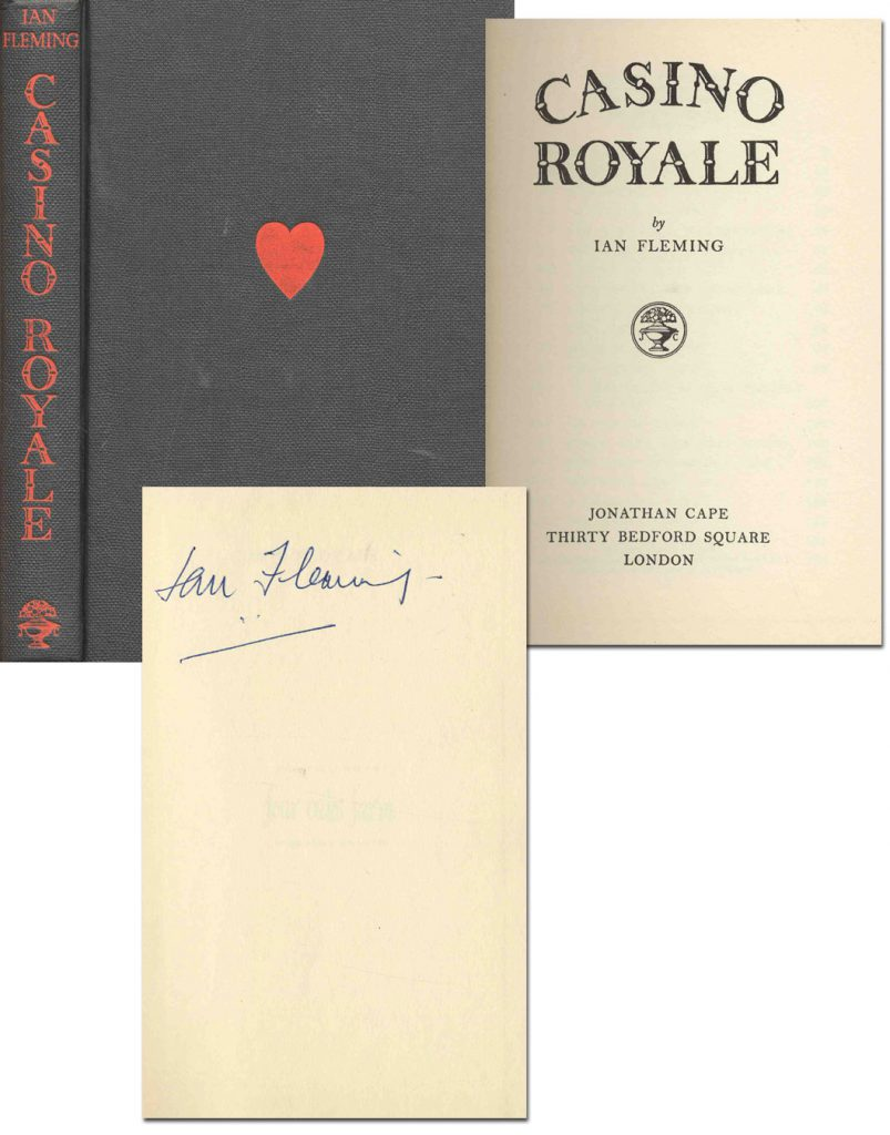 "Ian Fleming First Edition Ian Fleming Signed Copy of ""Casino Royale"" -- With COA & Provenance by Stanley Meyer Estate"
