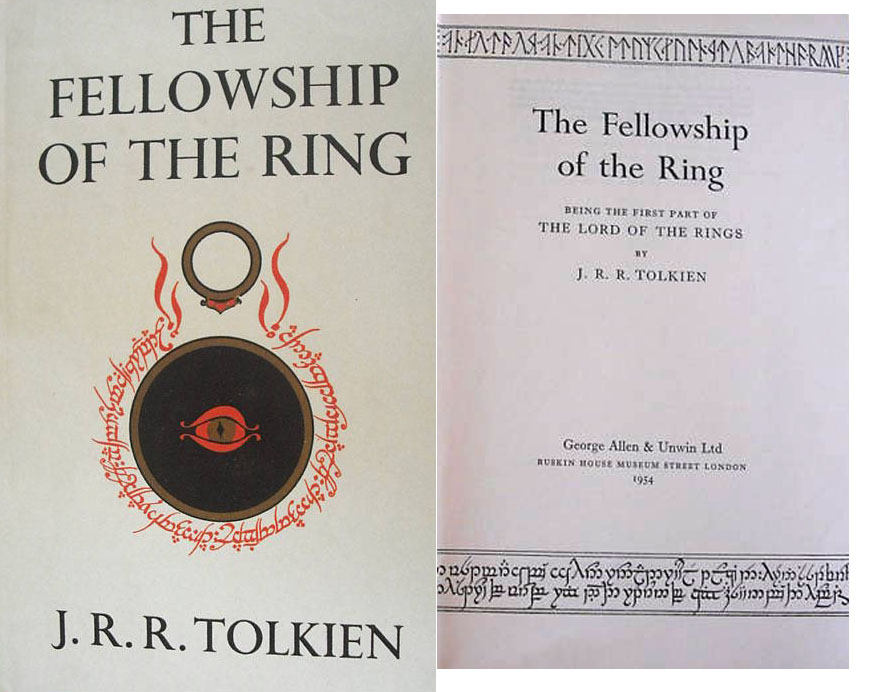 "J.R.R. Tolkien First Edition First Edition, First Printing of J.R.R. Tolkien's ""The Fellowship of the Ring"" -- The First & Scarcest Volume in Tolkien's Trilogy"