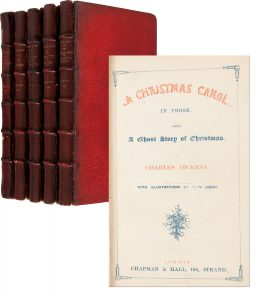 "Charles Dickens First Edition Beautiful First Edition Set of Charles Dickens Five Christmas Books -- Including Scarce First Edition, First Printing of ""A Christmas Carol"""