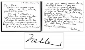 To Kill a Mockingbird First Edition Harper Lee autograph letter signed ''Nelle''