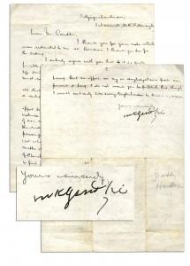 Mahatma Gandhi autograph Mahatma Gandhi LS