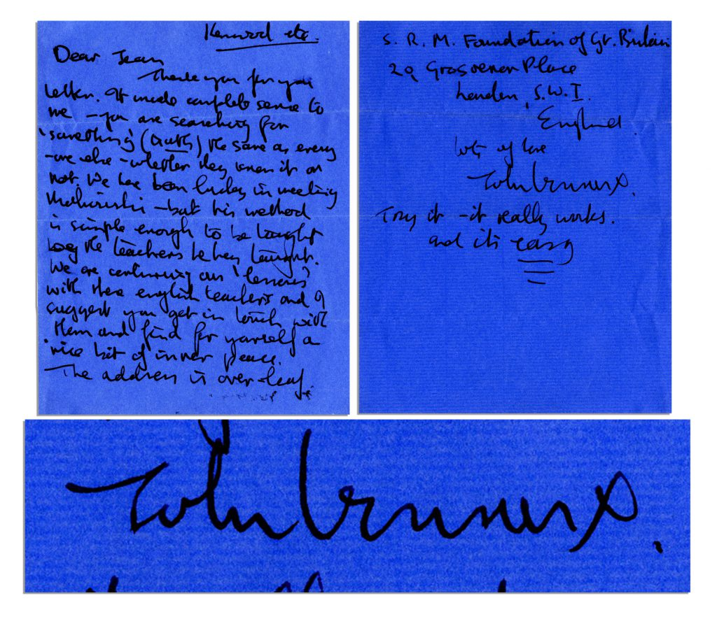 """Beatles memorabilia Intimate Handwritten Letter by John Lennon on Transcendental Meditation -- """"…you are searching for 'something' (truth) the same as every one else - whether they know it or not. We have been lucky in meeting Maharishi…"""" -- With PSA/DNA COA"""