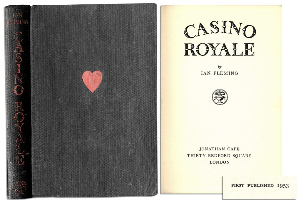 "Ian Fleming First Edition First Edition, First Printing of ""Casino Royale"" -- the Very First James Bond Novel by Ian Fleming -- ScarceBond ""was a compound of all the secret agents and commando types I met during the war"""