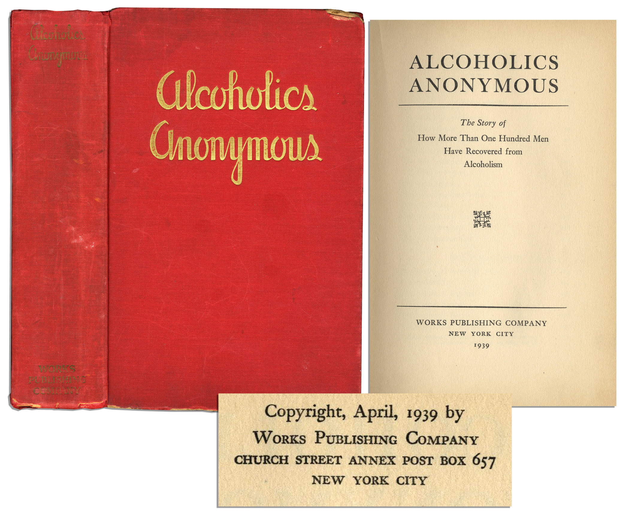 Alcoholics Anonymous First Edition Printing Of Book