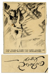 "Alex Raymond comic art Alex Raymond Flash Gordon original art Alex Raymond Signed Original ""Flash Gordon"""