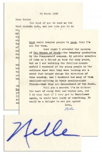 To Kill a Mockingbird First Edition Harper Lee Letter Signed -- ''...I tremble at Mockingbird's falling into the hands of professors and being Analyzed to death...one academic nut at large declares that Truman Capote wrote it!...''