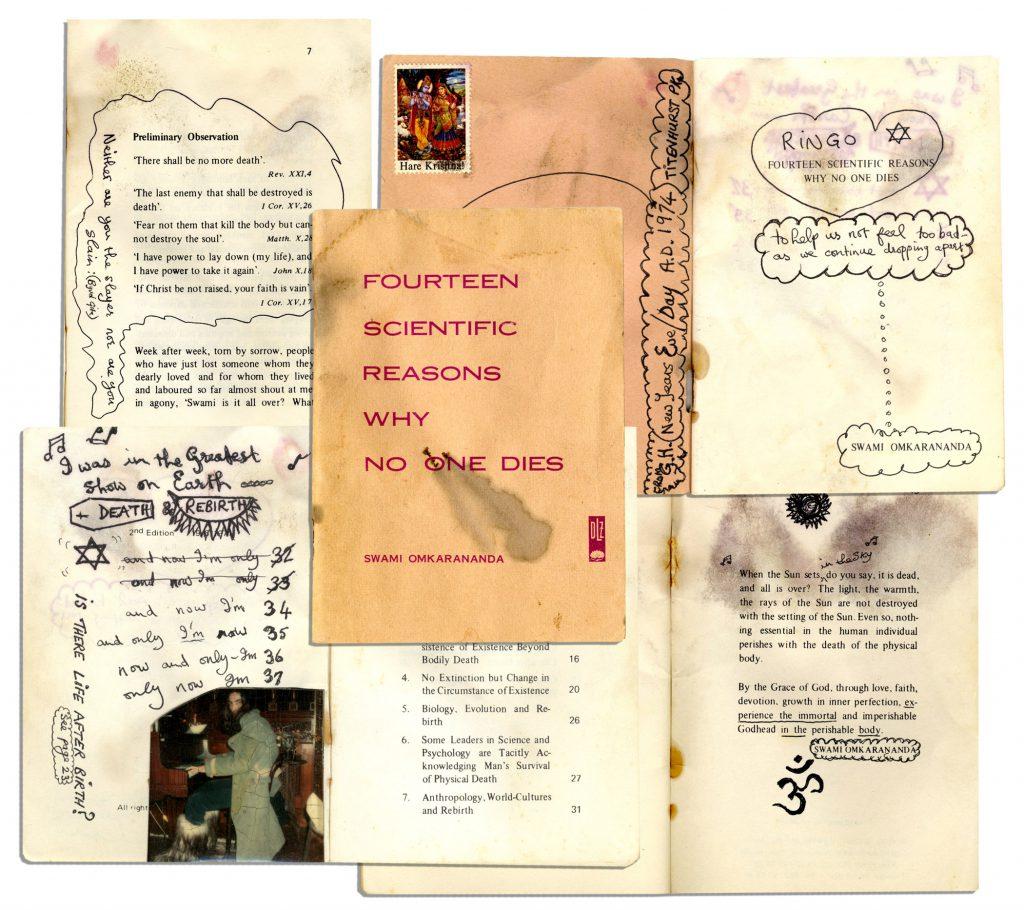 Beatles Memorabilia Beatles George Harrison Handwritten Notes on Spirituality