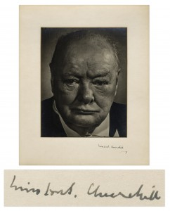 Winston Churchill Signed Photo Display Winston Churchill Autograph