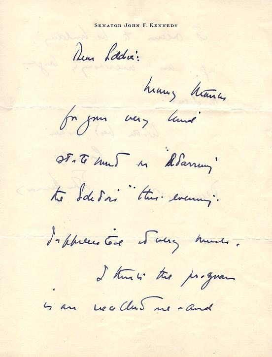 John F Kennedy Autograph