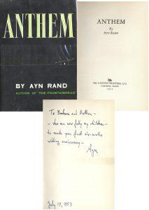 "Ayn Rand first edition Ayn Rand ""Anthem"" First Edition"