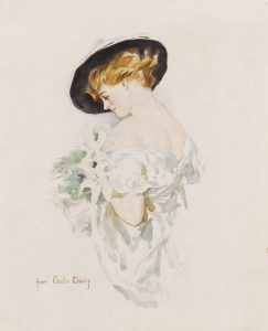 Howard Chandler Christy original art Christy Girl Portrait Circa 1917