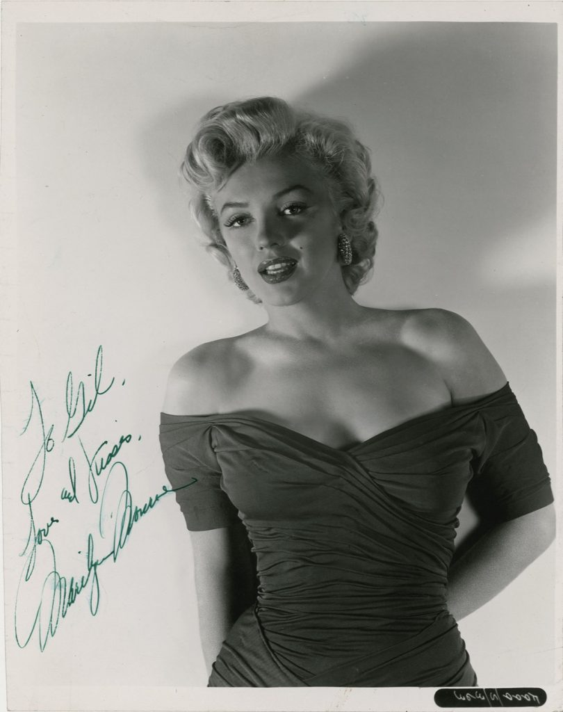 """Marilyn Monroe dress auction One of the Best, Most Classic, Provocative and Sexy Marilyn Monroe In-Her-Prime 8"""" x 10"""" Signed Photos One Could Hope to Own -- PSA/DNA COA"""