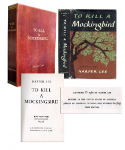 """To Kill a Mockingbird First Edition Scarce First Edition of Harper Lee's """"To Kill a Mockingbird"""" With Double Review Dustjacket"""