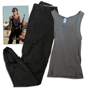 "Terminator Costumes Linda Hamilton Wardrobe From ""Terminator 2: Judgment Day"""