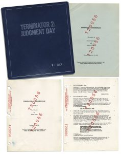 "Terminator Costumes Script For ""Terminator 2"" Personally Owned by Its Producer BJ Rack & Featuring Hand Notes"