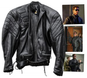 "Terminator Costumes Arnold Schwarzenegger ""Terminator 3: Rise of the Machines"" Leather Jacket"