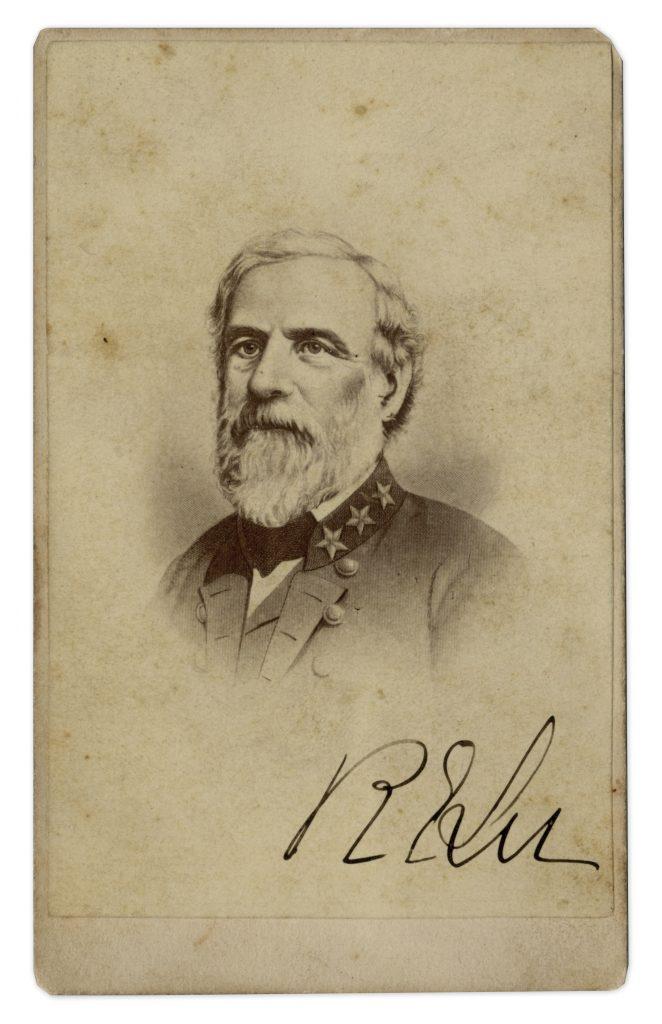 Robert E Lee Autograph