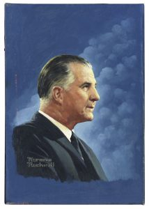 Norman Rockwell art auction Norman Rockwell Oil Painting of Vice President Spiro Agnew -- Cover Illustration for TV Guide on 16 May 1970