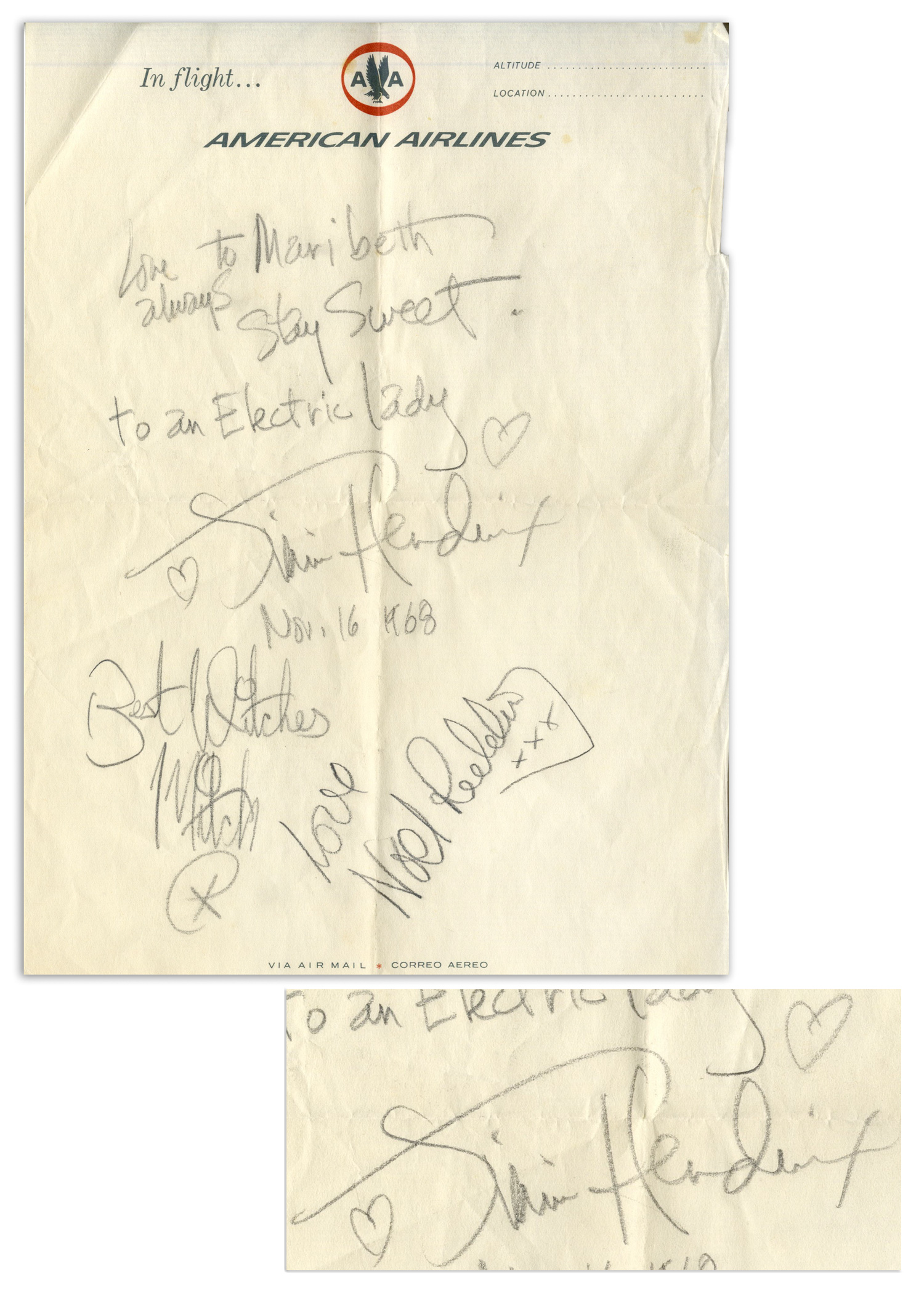 Free Appraisal For Your Jimi Hendrix Autograph By Nate D Sanders