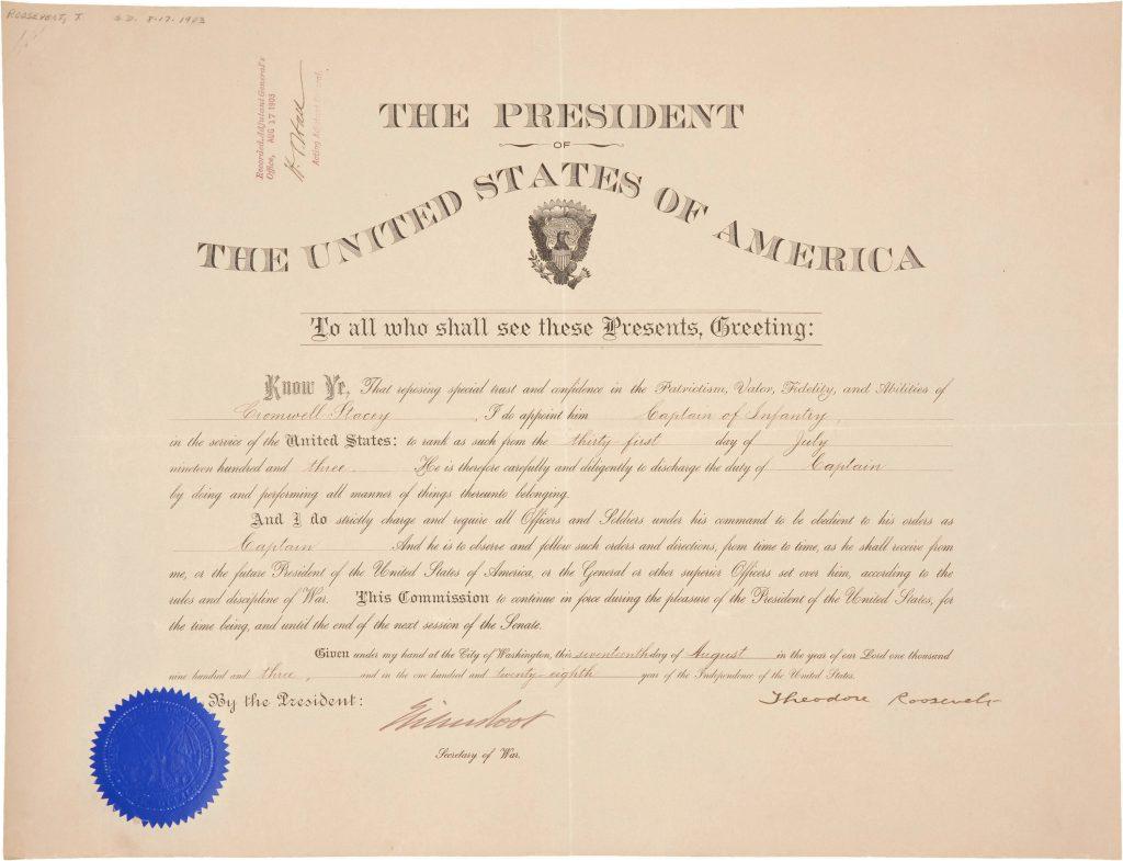 Theodore Roosevelt Autograph