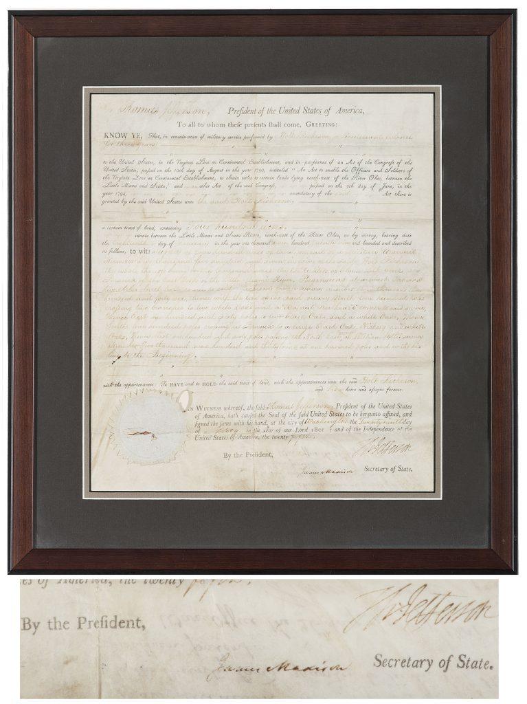 James Madison Autograph