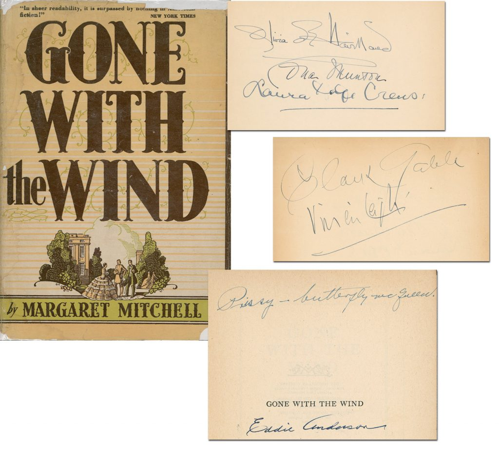 Gone With the Wind Autographs Gone with the Wind Autographs