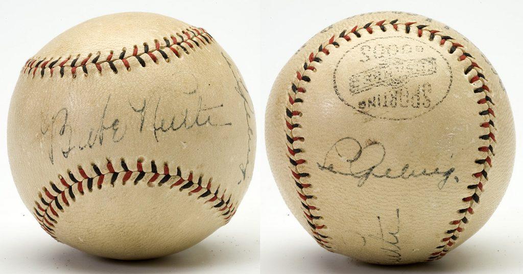 Lou Gehrig Autograph