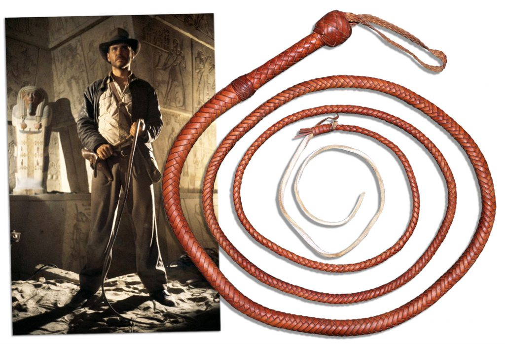 Indiana Jones Whip Sells At Natedsanders Com Worth
