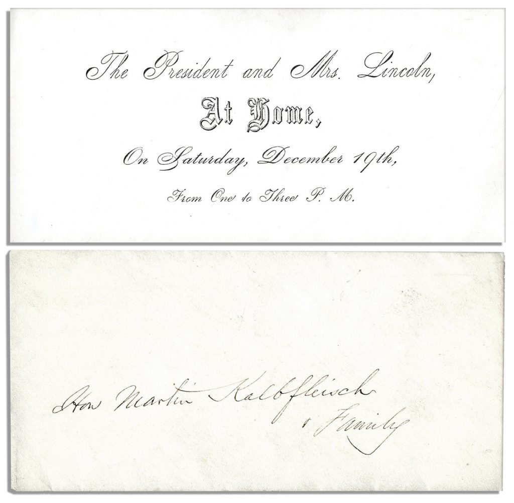 Abraham Lincoln Invitation