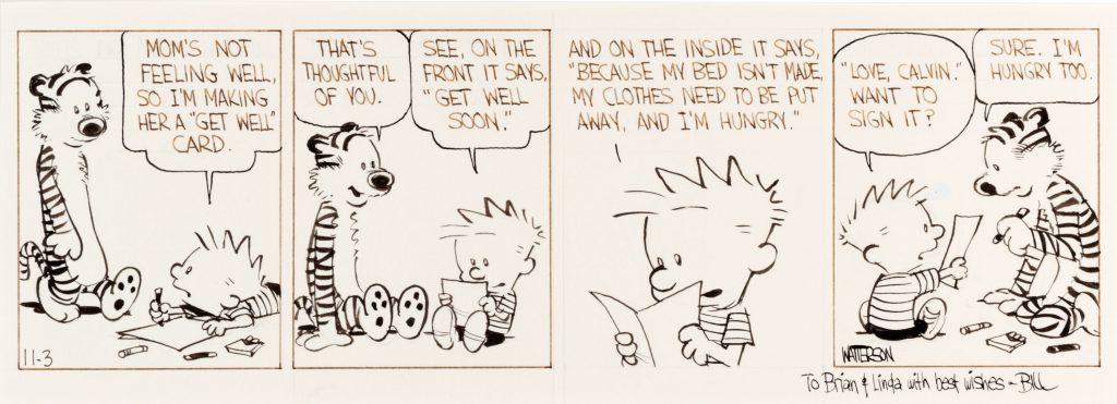 Bill Patterson comic art Calvin and Hobbes Bill Watterson Comic Art