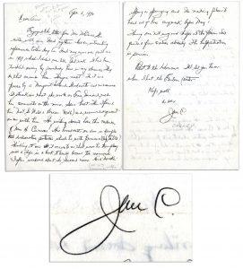 James Cagney Memorabilia Autograph Letter Signed