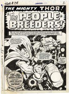 Jack Kirby art comic